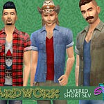 SimmieV Yardwork Layered Short Sleeve sims 4 cc