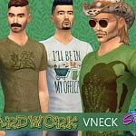SimmieV Yardwork V Neck sims 4 cc