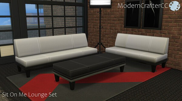 Sit On Me Lounge Addon Set sims 4 cc