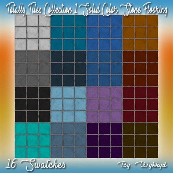 Solid Color Stone Tile Flooring sims 4 cc