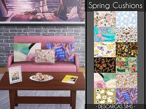 Spring Cushions sims 4 cc