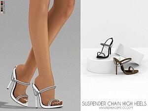 Suspender Chain High Heels sims 4 cc