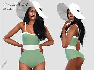 Swimsuit N 107 sims 4 cc
