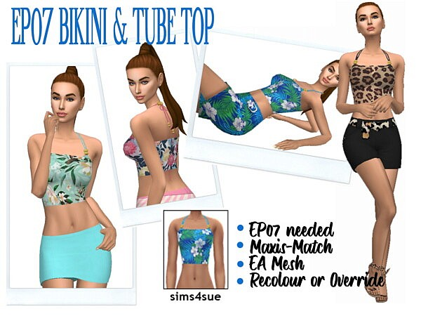 Swimwear and Tube Top