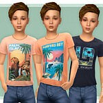 T Shirt Collection for Boys P21 sims 4 cc