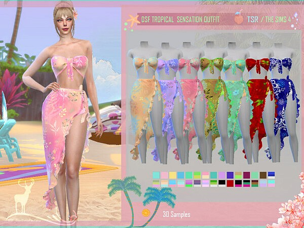 Tropical Sensation Outfit by DanSimsFantasy from TSR