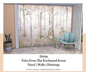 Tales From The Enchanted Forest Panel sims 4 cc