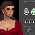 Teardrop Earrings sims 4 cc