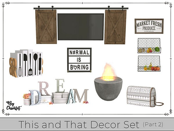 This and That Decor Set Part 2 by Chicklet from TSR