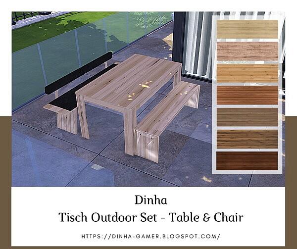 Tisch Outdoor Set sims 4 cc