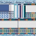 Totally Tiles Collection 1 Wall Coverings Azulejo and Talavera Tiles sims 4 cc