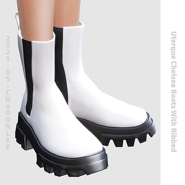 Uterque Chelsea Boots With Ribbed sims 4 cc