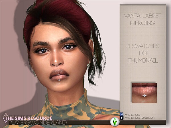 Vanta Labret Piercing and Mouthpreset N29 from Players Wonderland