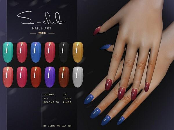 WM Nails 202107 sims 4 cc
