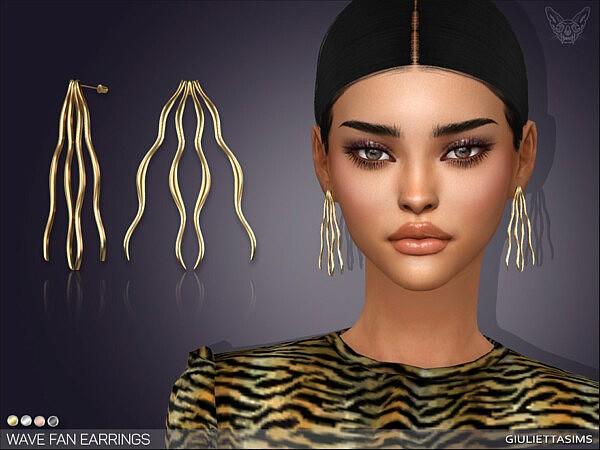 Wavy Fan Earrings by feyona from TSR