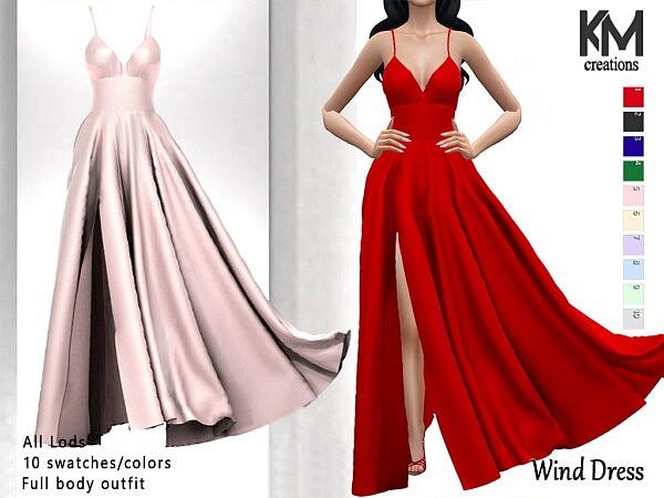 Wind Dress sims 4 cc