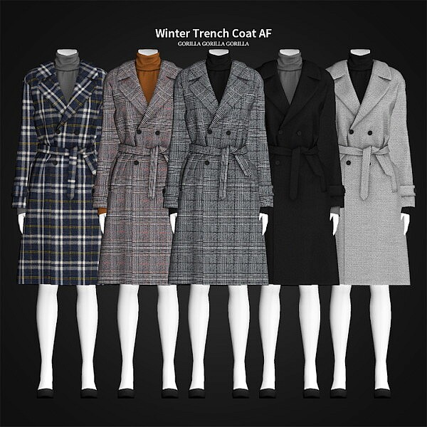 Winter Trench Coat AF sims 4 cc