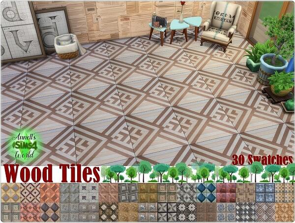 Wood Tiles sims 4 cc