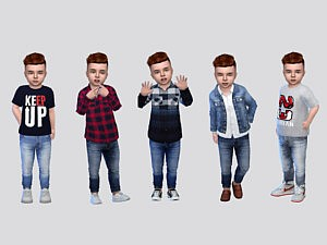 Zamyr Jeans Toddler sims 4 cc