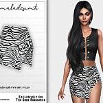 Zebra Print Side Split Mini Skirt