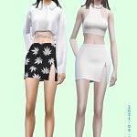 Zipped Skirt sims 4 cc