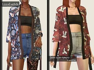 satin open kimono sims 4 cc