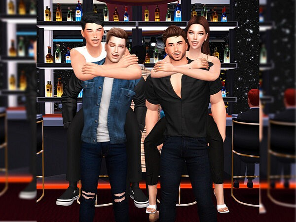 Friends night II Pose pack by Beto ae0 from TSR