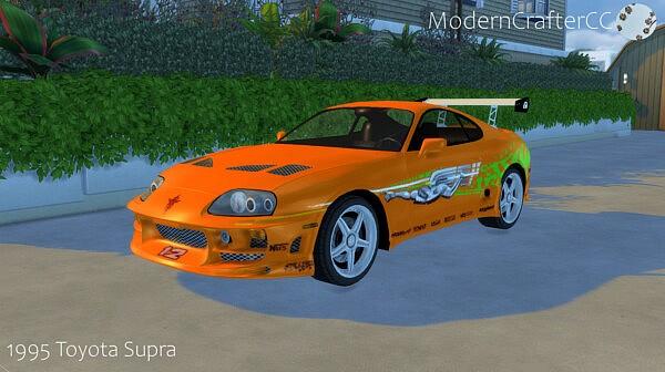 1995 Toyota Supra sims 4 cc