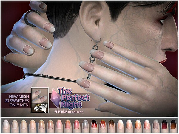 The Perfect Night   Male Longer Nails by BAkalia from TSR