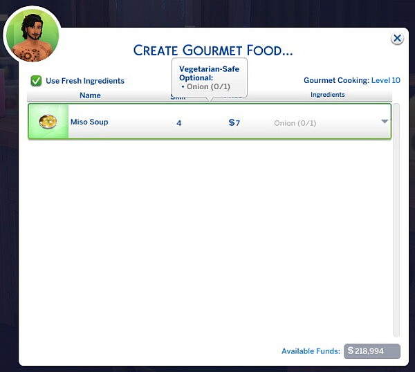 Robins Food Enabler by RobinKLocksley from Mod The Sims