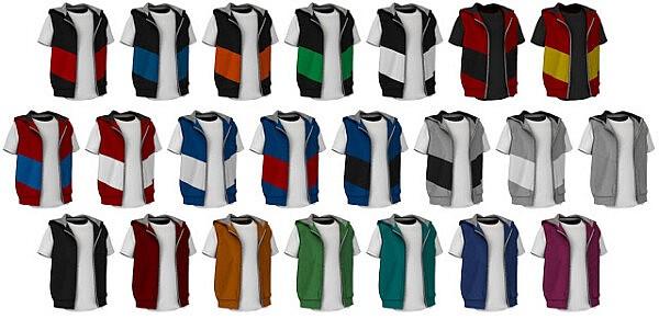 Hooded vest from Lazyeyelids