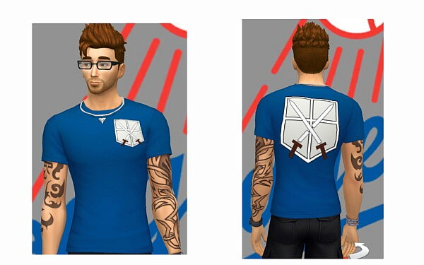 AOT   Fan Tees by Edwards121 from Mod The Sims