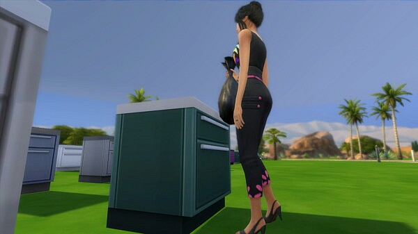Kitchen Counters as Trash Bin by iloveseals from Mod The Sims
