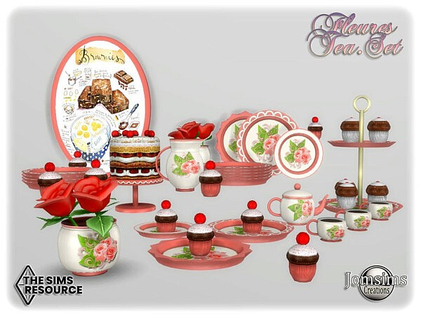 Fleures tea set by jomsims from TSR
