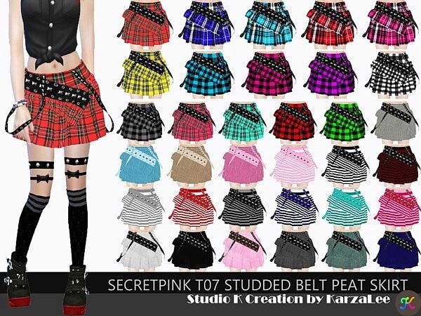 T07 studded belt peat skirt from Studio K Creation