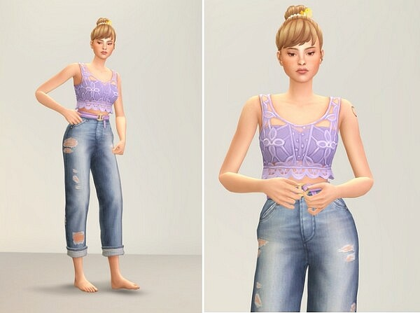 Seashell Wavvve II Slevveless and Jeans from Rusty Nail