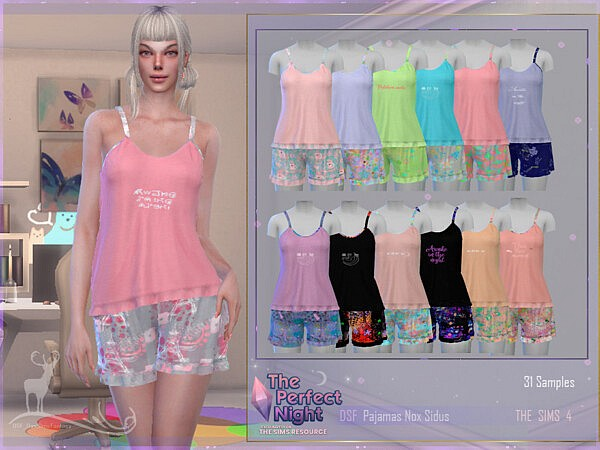 The Perfect Night Pajamas Nox Sidus by DanSimsFantasy from TSR