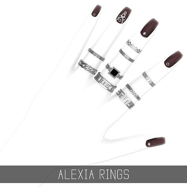 Alexia Rings sims 4 cc