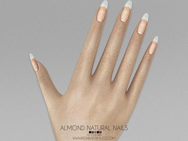 Almond Natural Nails sims 4 cc