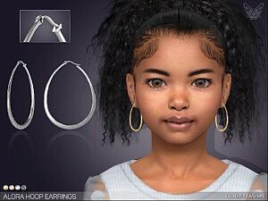 Alora Oval Hoop Earrings For Kids