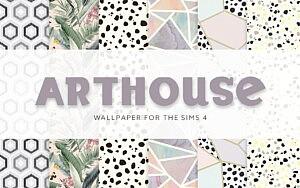 Arthouse Wallpaper sims 4 cc