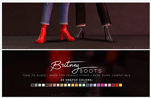 BRITNEY BOOTS from Candy Sims 4