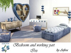 Bedroom with workstation Iris