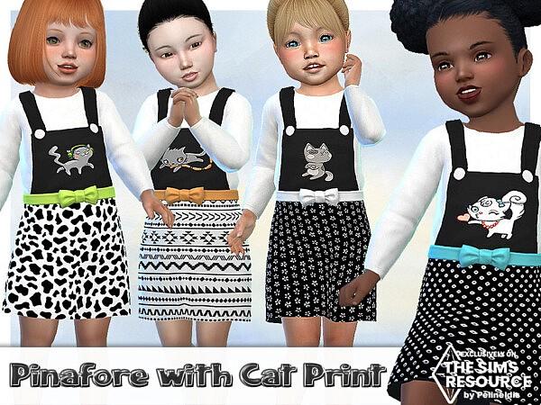 Cat Print Pinafore