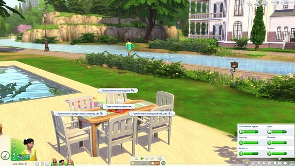 Children can make Lemonade, Ice Tea and Citrus Fizz on Back Yard Drink Tray by TheTreacherousFox from Mod The Sims