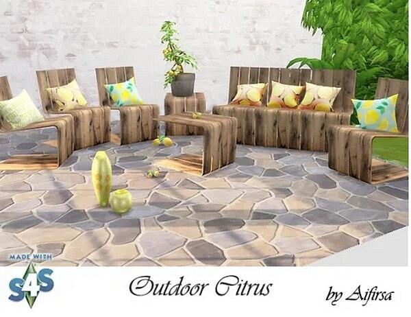 Citrus Garden Furniture and Decor