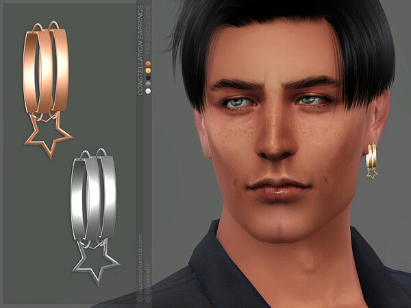 Constellation earrings Left