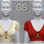 Crochet top sims 4 cc