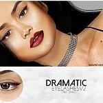 Dramatic Eyelashes V2 sims 4 cc