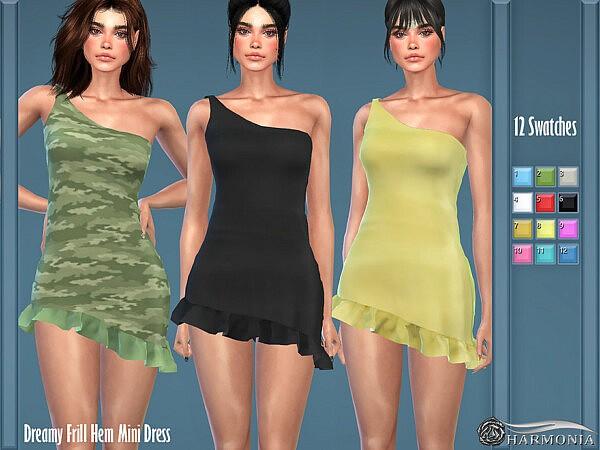 Dreamy Frill Hem Mini Dress